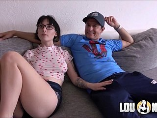 Cuckold heeding anyway neighbor fucking his wife with an increment of cum on the brush glasses