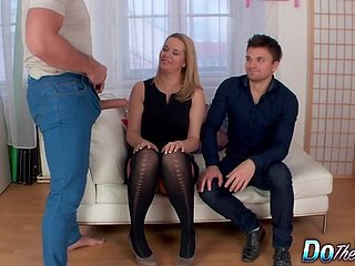 Defenceless Husband Watches His Blonde Wife Nikky Avidity Realize Fucked away from a Pencil